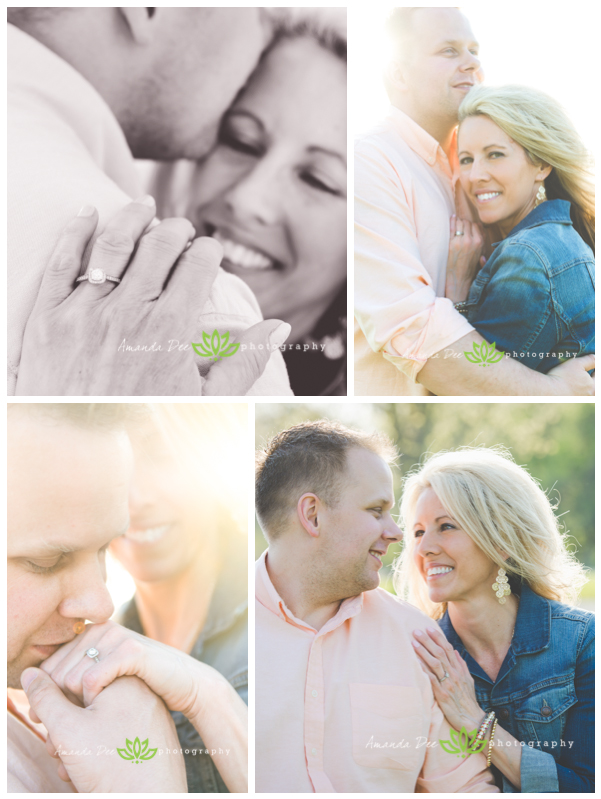 Spring Engagement Romantic Golden Hour Spring Engagement Session {Marion, IA Engagement Photographer}