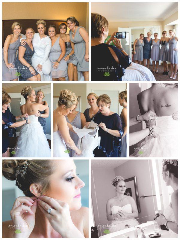 Fall Church Wedding Williams Wedding Amanda Dee Photography Cedar Rapids Wedding Photographer getting ready getting dress on getting jewelry on